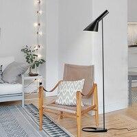 Post modern Design iron AJ Floor Lamp Black/White Metal Stand Light for bar Living Room/Bedroom E27 LED Bulb