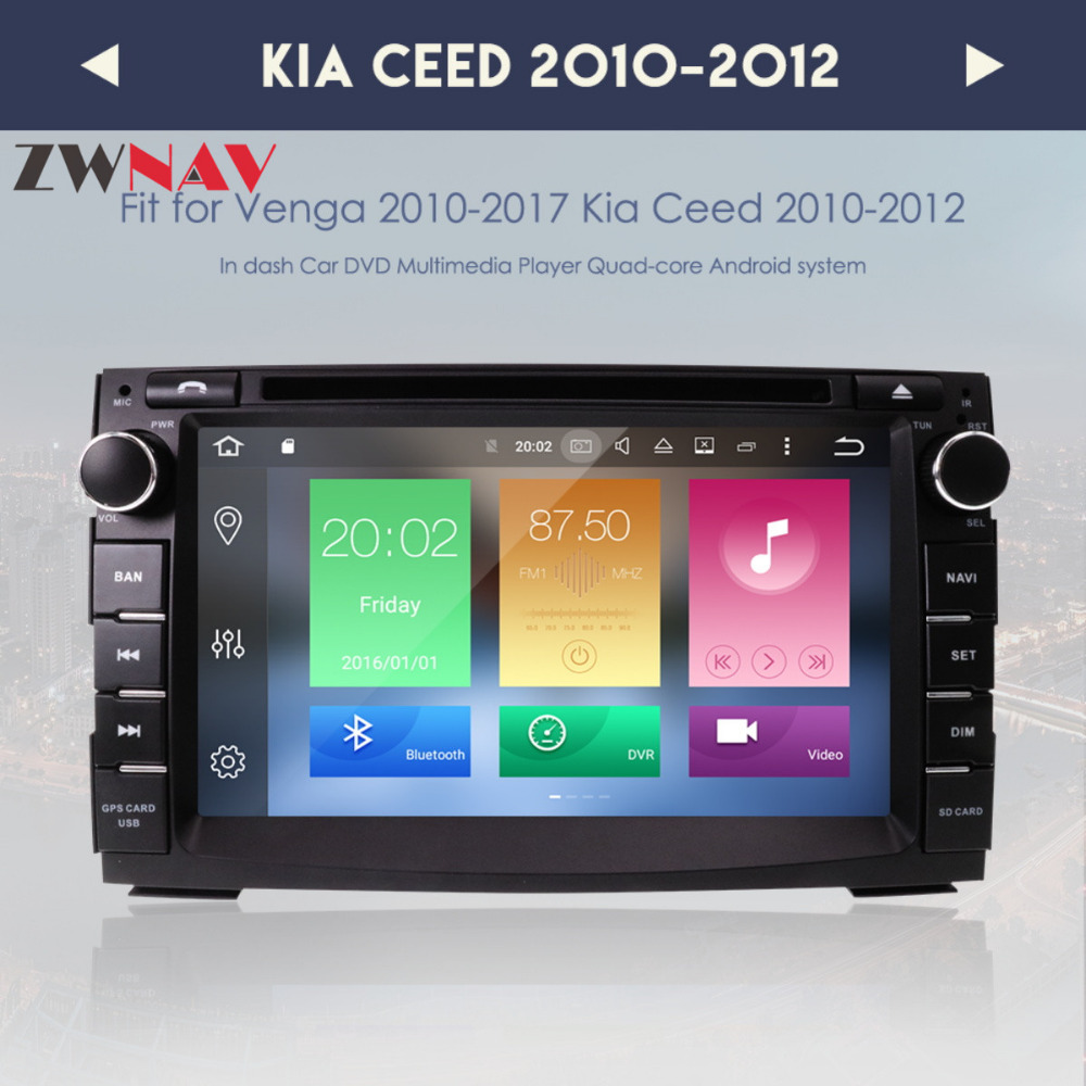 Android 8.0 Car DVD Player GPS Navigation Multimedia for Kia Ceed 2010 2011 2012 Auto BT RDS Radio Audio Video Stereo Octa 8Core