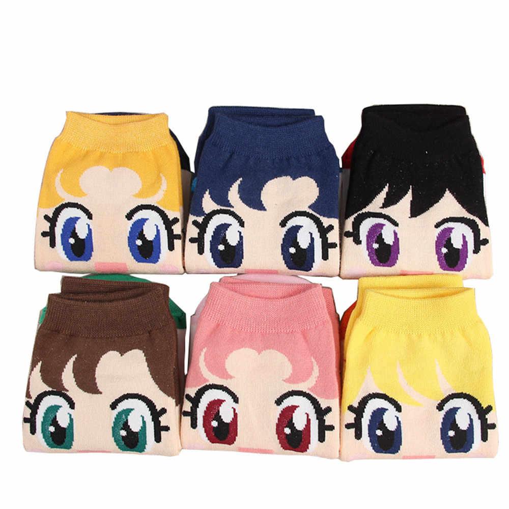 6pcs New Fashion Girls Womens Cotton Socks Anime Sailor Moon Ankle Casual Dress Socks