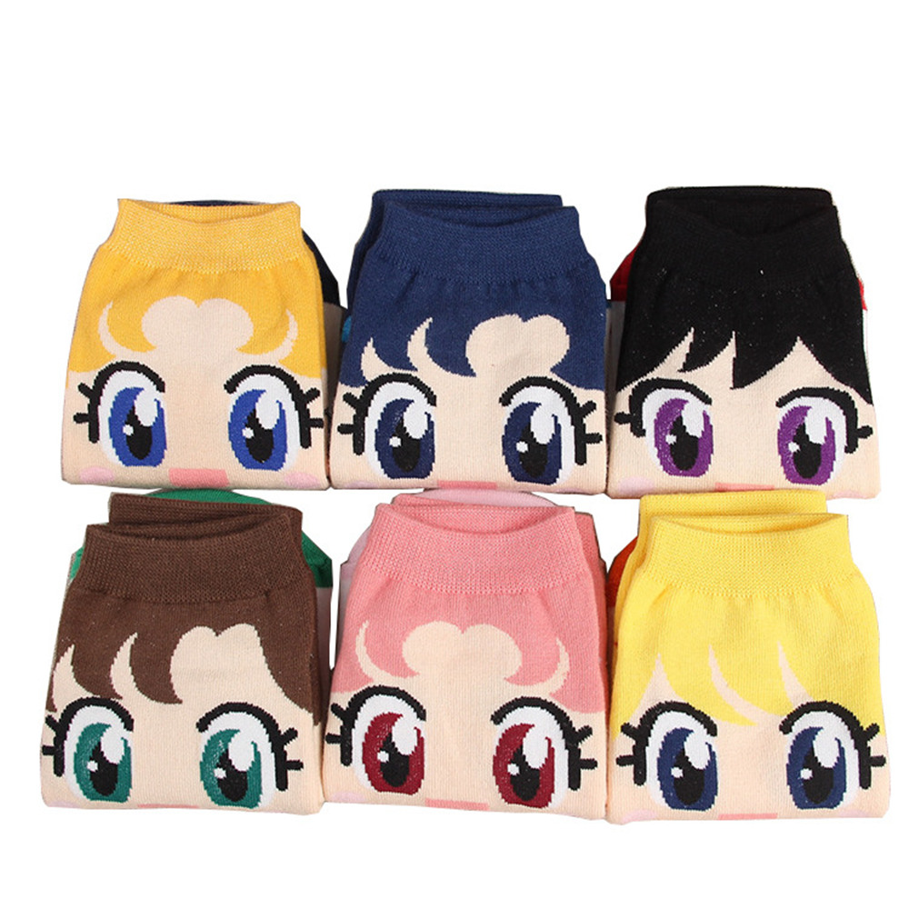 New Fashion Girls Womens Cotton Socks Anime Sailor Moon Ankle Casual Dress Socks