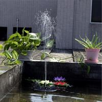 LumiParty Solar Fountain Outdoor Watering Submersible Free Standing Water Pump For Garden Pool Pond Patio