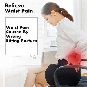 Image 2 - PurenLatex z pianki Memory talia lędźwiowa boczna poduszka wspomagająca kręgosłup Coccyx Protect ortopedyczne fotelik samochodowy Sofa biurowa poduszka na oparcie krzesła