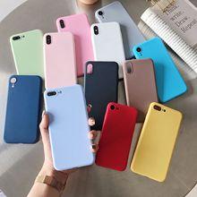Cukierkowy kolor tpu przypadku na Huawei Y5 II Y5 Y7 Y6 Prime Y9 2018 P inteligentny GR5 2017 Mate 9 Lite Honor 7A pro V10 V20 5A 6C 7C pokrywa