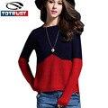 Свитер зимы женщин пуловеры леди зима 2016 Мода Новый длинным рукавом О шеи Пуловер женщин свитера вязаная Женская Одежда