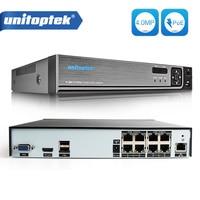 H 265 H 264 8CH 48V CCTV POE NVR IP Camera Security Surveillance CCTV System P2P