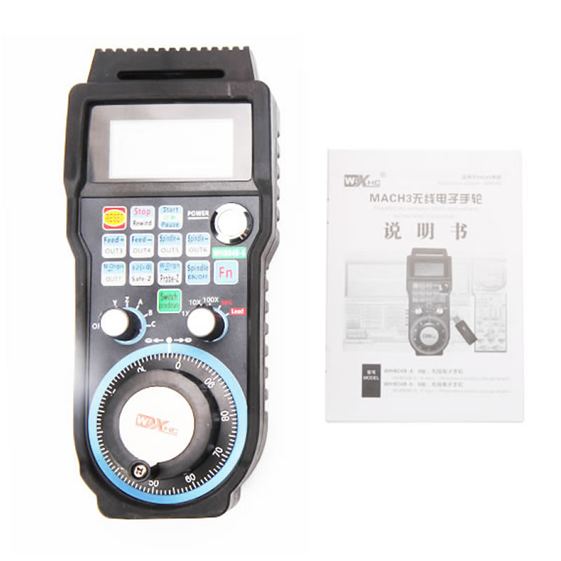 CNC 4 Axis 6 Axis Wireless Mach3 MPG Pendant Handwheel Controller for CNC Machine lathe