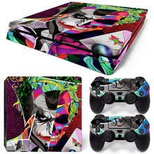 Cool Joker Vinyl Cover Decal PS4 Slim S Skin Sticker For Sony Playstation 4 Slim Console & Controller Stickers