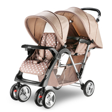 High Quality Twins Baby Stroller Double Seat Baby Car Portable Folding Strollers for Twins Shockproof Pram