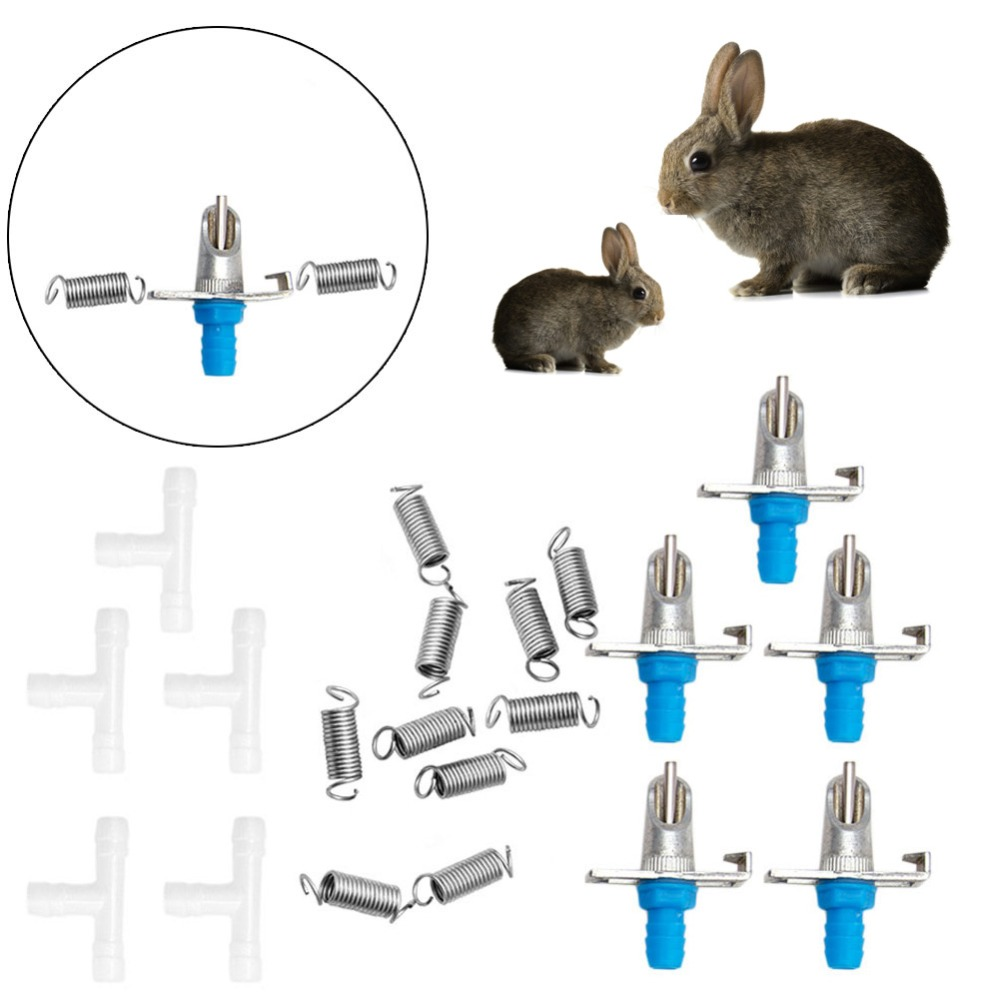 Bunny Rabbit Drinking Water Bite Drinkers Mouth Automatic Double Hung Spring