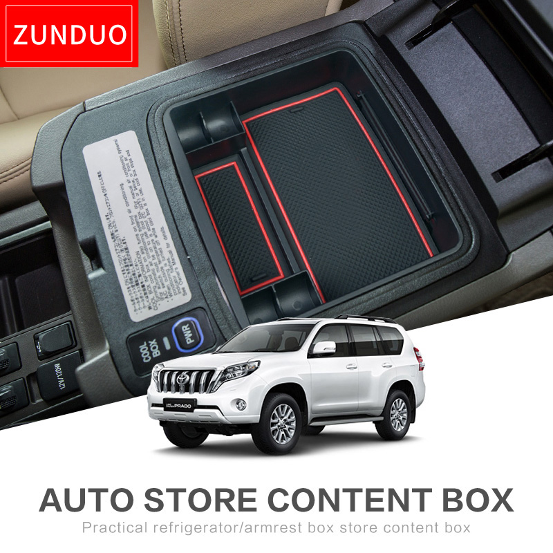ZUNDUO  Car central armrest box for toyota Land Cruiser Prado 2014-2016 Interior Accessories Stowing Tidying