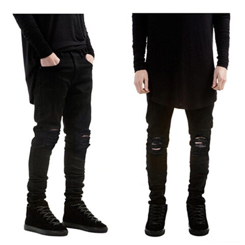 Justin bieber Ripped jeans Slim David Beckham Hip hop jeans ...