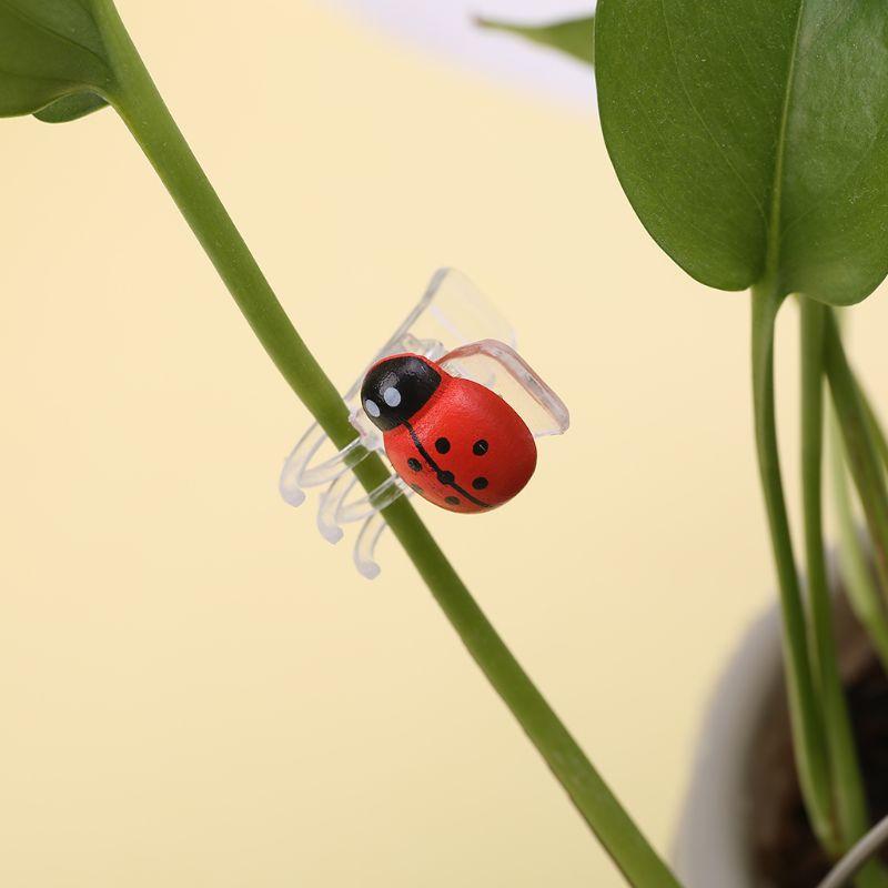 10 Pcs Cute Ladybug Orchid Clips Garden Flower Cymbidium Clips Plant Stem Support Clips Help Vines Grow Upright
