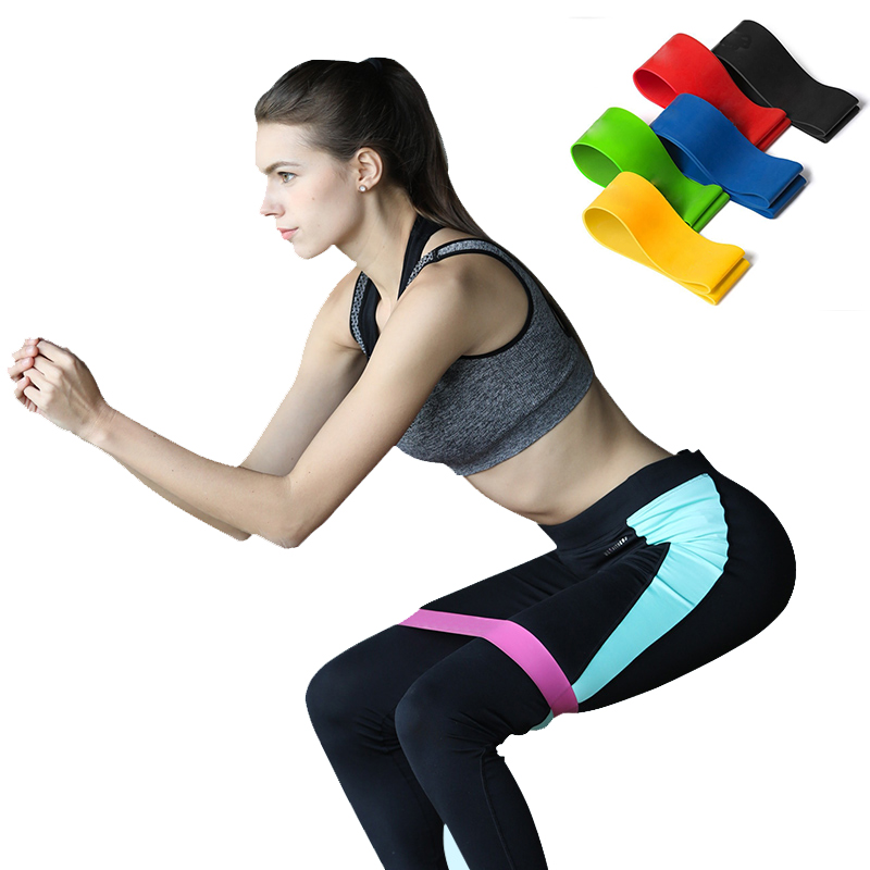 Pilates Resistance Bands Physical Training Fitness Rubber Loop Home Crossfit Muscle Power Gym Strength Yoga Athletics Elastic