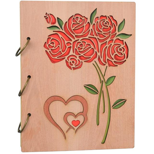 Giftgarden Vintage 5x7 Photo Album Double Hearts Roses Photo Albums