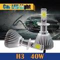 H3 40 Вт 4000LM Свет Белый Автомобиль Преобразования Фар DRL Туман Дневного Света 1 Пара