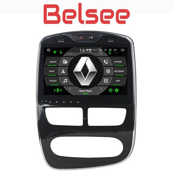 Belsee 10,1 дюймов сенсорный экран радио Android 8,0 Авто Стерео gps навигации головное устройство Octa Core 4 + 32 ГБ для Renault Clio