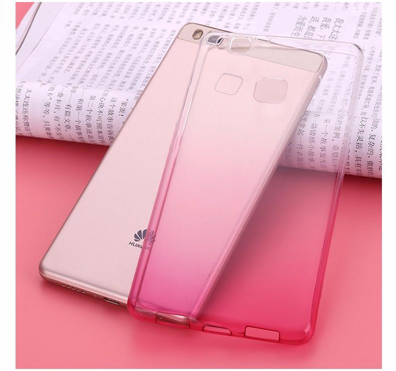 Ultra-cienki przezroczysty miękka tpu case dla huawei p8 p9 plus p8 lite krzemu gradientu telefon ochronna pokrywa dla huawei p9 Shell 18
