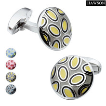 Fantastic Colorful Cufflinks Enamel Jewelry Customized High Quality Cuff For Men Shirt Accessories Ceremony Gift