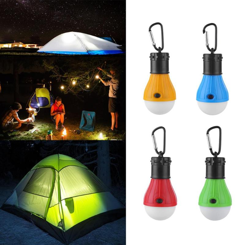 Portable Lantern Tent Light Outdoor Emergency Hanging Hook Flashlight 3 Modes Carabiner Bulb Light 4 Colors Emergency Light