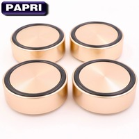 PAPRI 4PCS 58x22MM Golden Machined Solid Full Aluminum Isolation Feet Stand Cone For Audio Speaker Amplifier