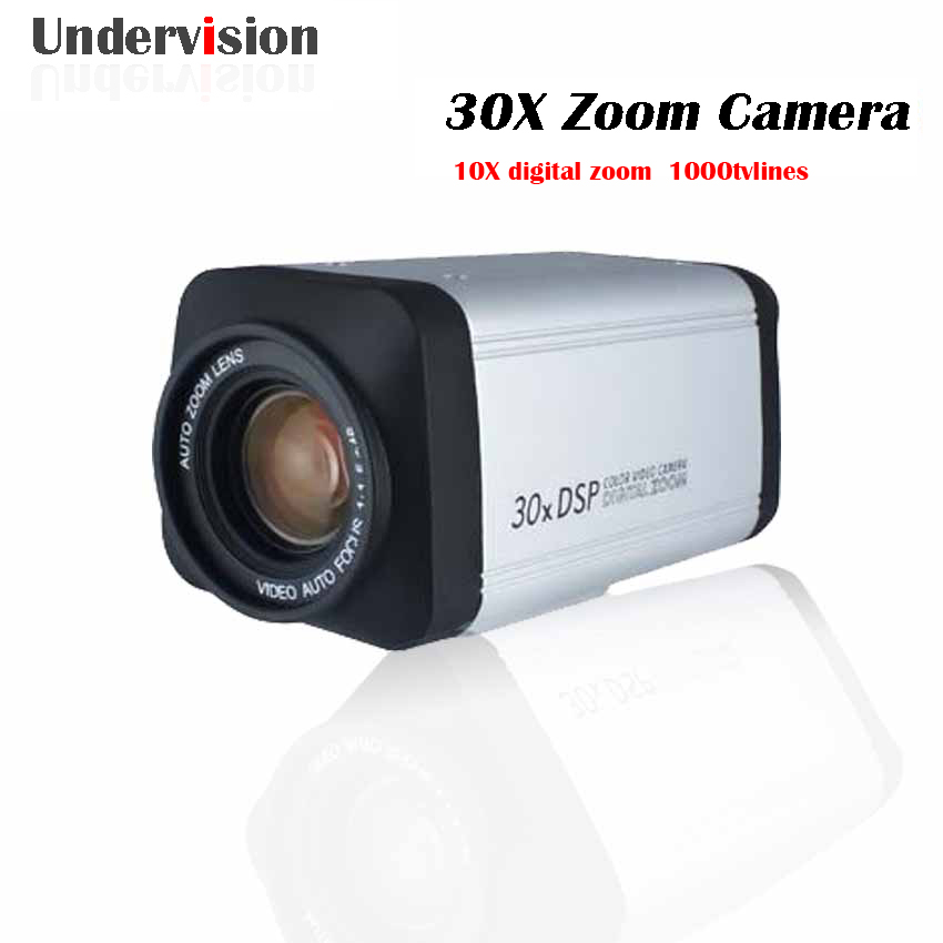 Box Camera 1000tvlines 10X digital zoom and 30X optical zoom  1000tvlines boxes camera ,free Shipping cctv 1 3 sony 700tvl 300x zoom 10x optical zoom 10x digital zoom dsp color video metal shell box camera auto focus