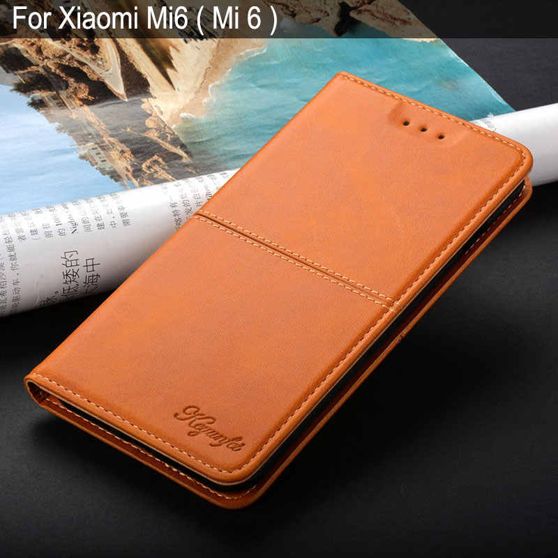 for xiaomi mi6 case luxury Vintage Leather Flip cover coque with Stand Card Slot Business case for Xiaomi Mi 6 Mi6 funda capa