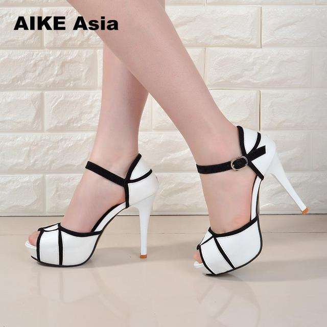 Summer Hollow Buckle Women's Shoes European And American Fight Color Fish Mouth Fine With High Heels Young Daily Shoes #A6619 4