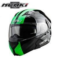 New Arrivew Nenki Brand Double Sun Visor Full Face Motorcycle Helmet Motorbike Flip Up Helmets Riding