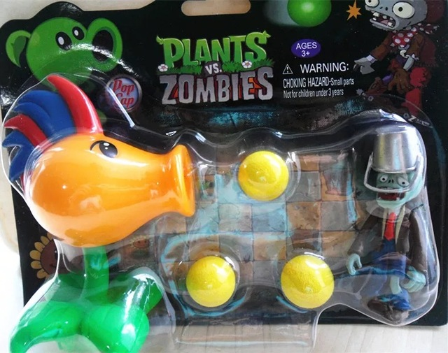 2015 new New Popular Game Plants vs Zombies Peashooter PVC Action Figure Model Toys Plants Vs Zombies Toys For Baby Gift