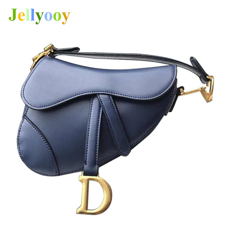Genuine Cow Leather Luxury Handbag Women Bags Designer Fashion Saddle Shoulder Bag for Ladies High Quality Bags for Women's 2018 best quality 2018 new gate shoulder bag women saddle bag genuine leather bags for women free shipping dhl