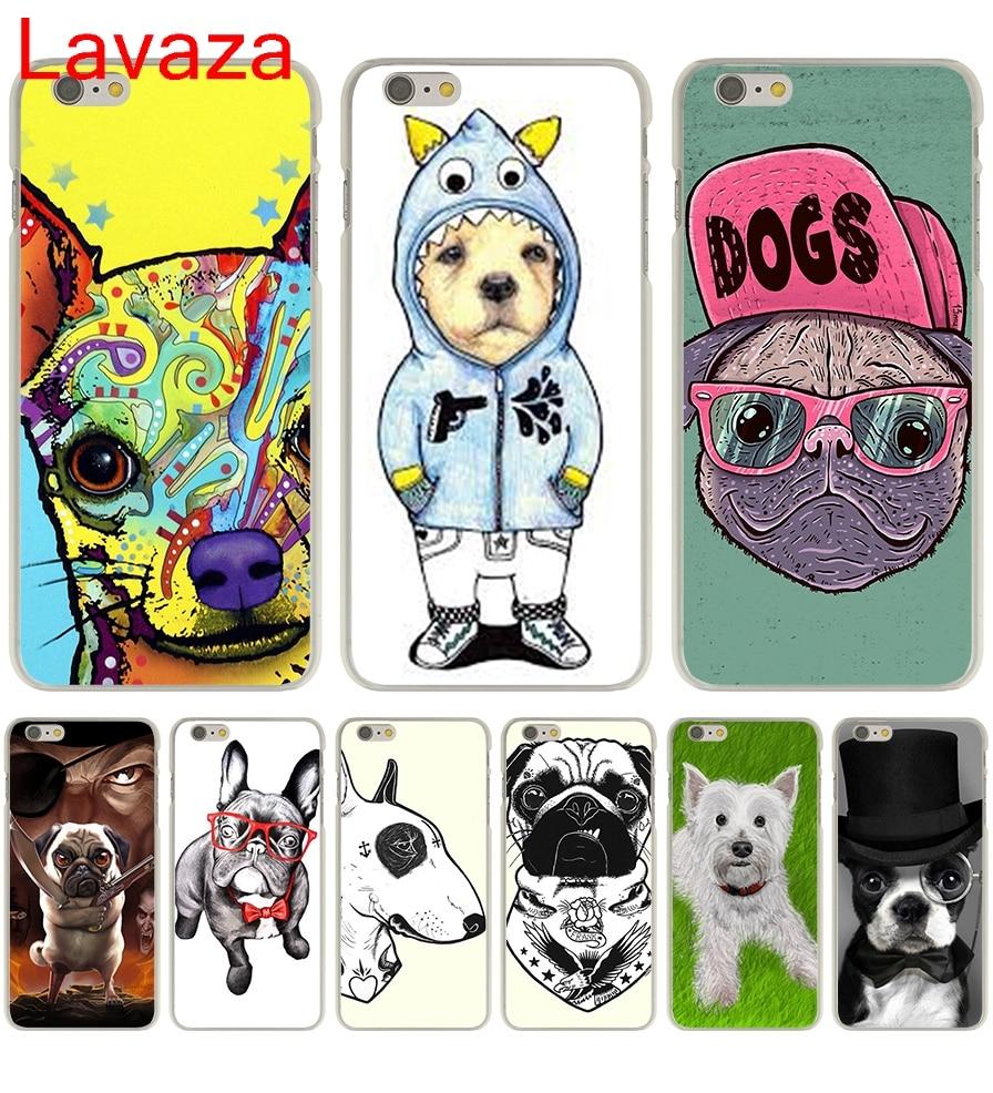 Lavaza Татуированная бультерьер милая собака biaoqing для iPhone 6 plus жесткий прозрачный чехол для iPhone 6S плюс