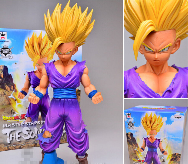 BANPRESTO MSP Dragon Ball Z Son Gohan Figure Super Saiyan Son Goku Toy 20CM Dragon Ball Collectible Model Toy Doll Figuras DBZ dragon ball z broli 1 8 scale painted figure super saiyan 3 broli doll pvc action figure collectible model toy 17cm kt3195