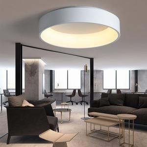 Image 3 - Black/white/Gray Minimalism Modern LED ceiling lights for living room bed room lamparas de techo LED Ceiling Lamp light fixtures