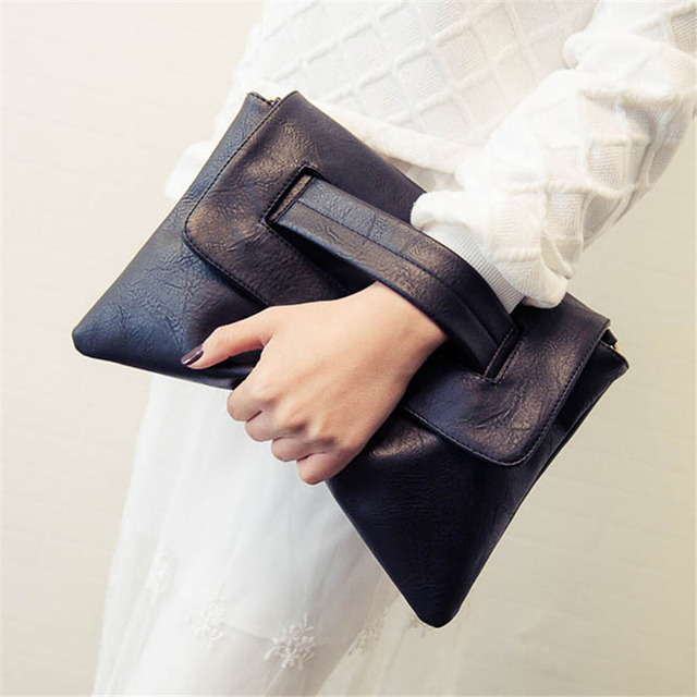 2017 Designer Women Leather Handbags Day Clutches Bags Black Crossbody Bags Messenger Bags Ladies Envelope Evening Party Bags