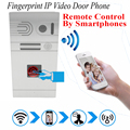 Phone Control Fingerprint Wireless Wifi Video Door Phone Intercom 720P HD 1.0MP Outdoor Camera IP Doorphone Onvif