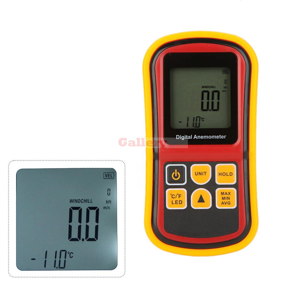 Gm8901 Digital Anemometer Wind Meter Speed Air Velocity Temperature Meter Tester Measuring 0 45 M/s with Lcd Backlight S M tl 300 digital lcd air temperature anemometer air velocity wind speed meter