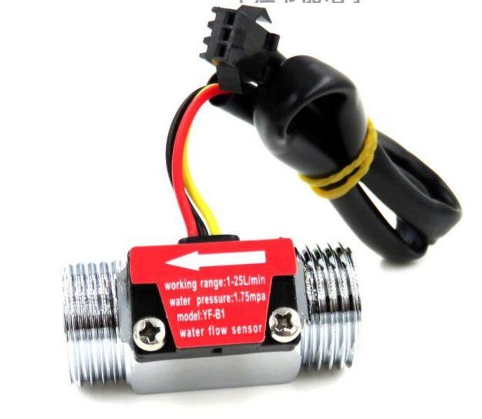 G1/2 Inch Water Flow Hall Sensor Switch Flow Meter For Industrial turbine flowmeter water flow sensor-in Flow Meters from Tools