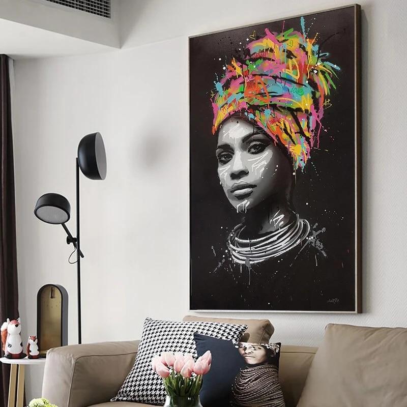 Home Decor Poster C Wall Art African Women Art//Canvas Print
