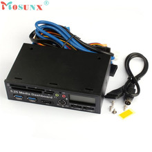 Adroit 1PC Black 5.25 Inch USB 3.0 High Speed Media Dashboard Front Panel PC Multi Card Reader JAN5 drop shipping