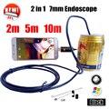 Armgroup Черный 7 ММ Змея USB Android Эндоскопическая Камера 2IN1 Камеры Телефона Android 2 м 5 м 10 м MicroUSB Endoskop OTG Телефон Камеры