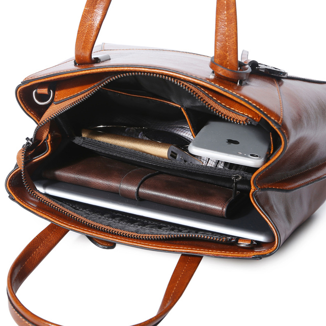 Genuine Leather Women Retrospective Handbag Burnished Cowhide Luxury Lady Purse Geometric Pattern Design Female Messenger Bag Evening Bags