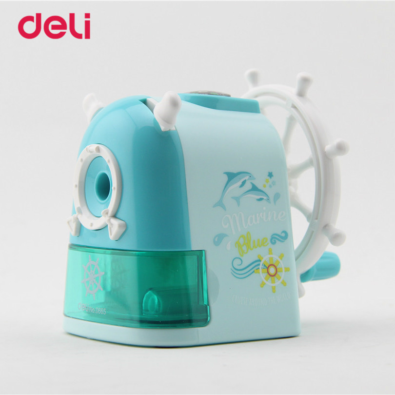 Deli Stationery Windmill pencil sharpener Hand Mechanical Cartoon pencil sharpener Kawaii Pencil sharpener for students supplies deli stationery pencil sharpener mechanical cartoon kawaii pencil sharpener cute pencil sharpener office & school supplies