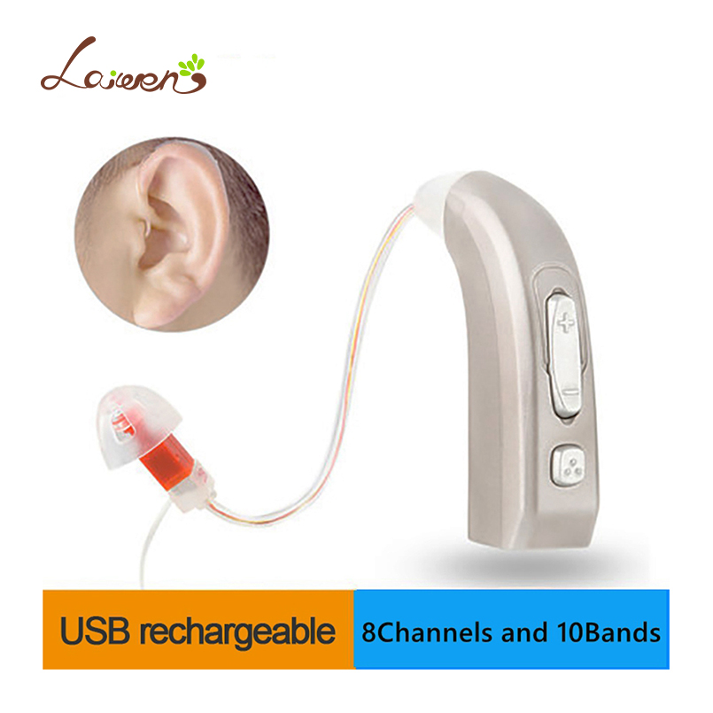 E39 Newest Rechargeable Hearing Aid Auidphones Microphone Amplifier To Profound Deaf Hearing Aids Left /Right ear Dropshippin usb hearing aid auidphones my 33 microphone rechargeable amplifier behind the ear 2 pieces for right ear and left ear