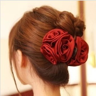 Free ship!10pc!Grasping large chuck flower / three rose flower /big bride married hair clip/hair claw