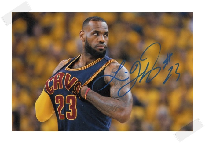 ФОТО LeBron James  autographed signed with pen photo 4*6 inches famous sports star  freeshipping 02.2017