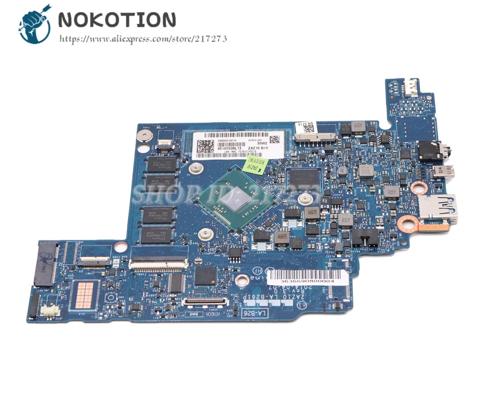 NOKOTION ZAZ10 LA-B261P MAIN BOARD For Lenovo Chromebook N20 N20P Laptop Motherboard with Processor onboardNOKOTION ZAZ10 LA-B261P MAIN BOARD For Lenovo Chromebook N20 N20P Laptop Motherboard with Processor onboard