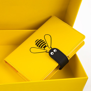 Little Bee Faux Leather Journal Notebook Monthly Daily Planner Any Year Agenda Scheduler Study Diary Stationery Gift