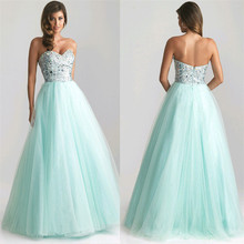Elegant Lady Strapless font b Dress b font Sexy Women Sleeveless Prom Gown Sequins font b