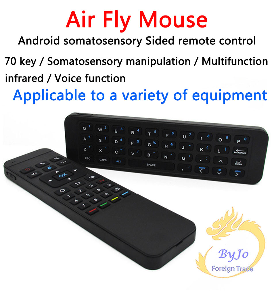 MP3 Air Fly Mouse MX3 2.4GHz Wireless Keyboard Remote Control Somatosensory IR Learning 6 Axis without Mic for Android TV Box