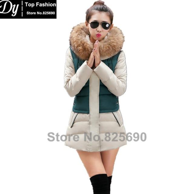 Новый Мягкий Зимняя Куртка Женщин Хлопка женщин Зимняя Куртка Мода Тонкий Плюс Размер Парки С Капюшоном С Искусственного Меха, Пальто Casacos